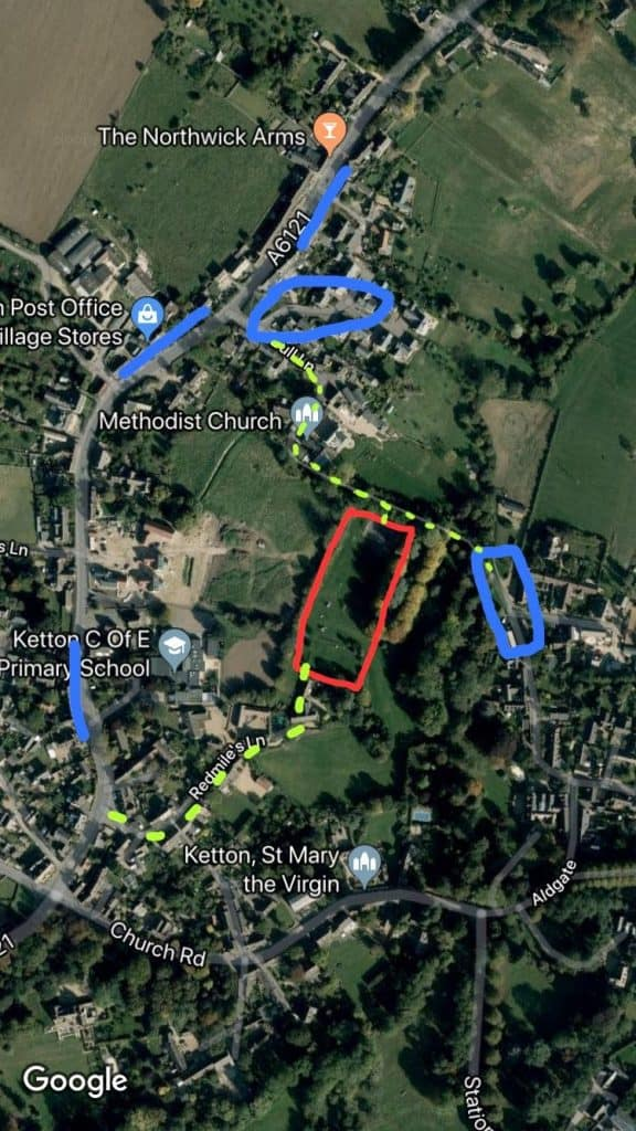 Ketton Play Area Map