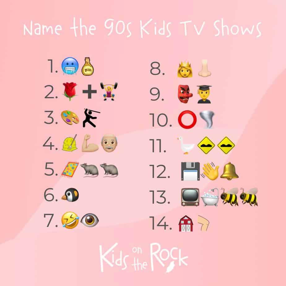 Name the 90s kids tv shows - Emoji Quiz