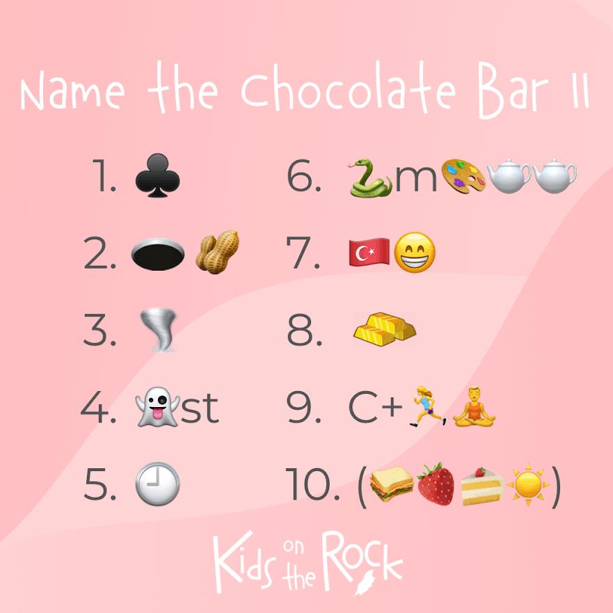 Name the Chocolate Bar 2
