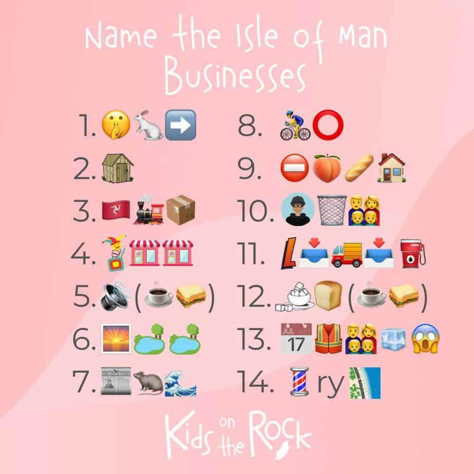 Name the Isle of Man Businesses - Emoji Quiz