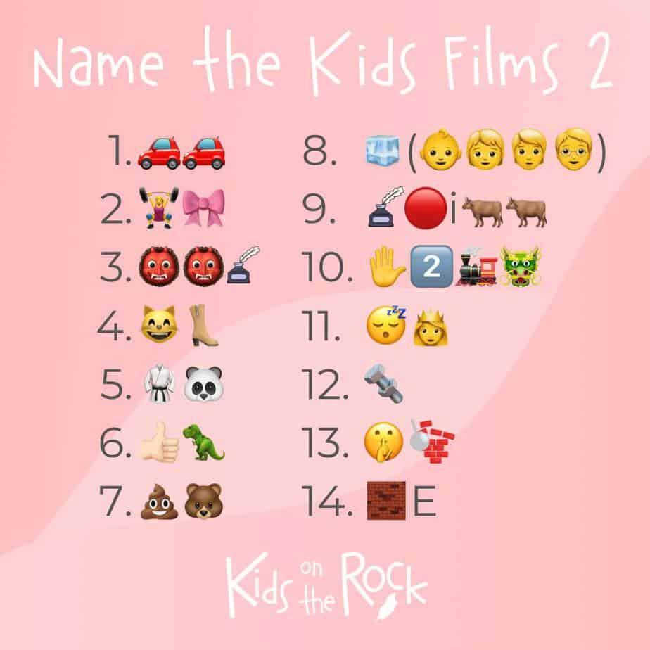 Name the kids film 2 - Emoji Quiz